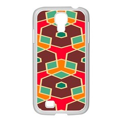 Distorted shapes in retro colors			Samsung GALAXY S4 I9500/ I9505 Case (White)