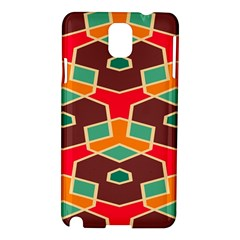 Distorted shapes in retro colorsSamsung Galaxy Note 3 N9005 Hardshell Case