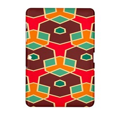 Distorted shapes in retro colorsSamsung Galaxy Tab 2 (10.1 ) P5100 Hardshell Case