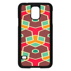 Distorted shapes in retro colors			Samsung Galaxy S5 Case (Black)
