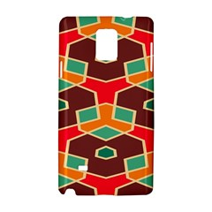 Distorted shapes in retro colorsSamsung Galaxy Note 4 Hardshell Case