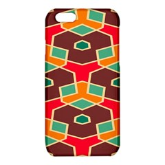 Distorted shapes in retro colorsiPhone 6/6S TPU Case