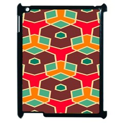 Distorted shapes in retro colors			Apple iPad 2 Case (Black)