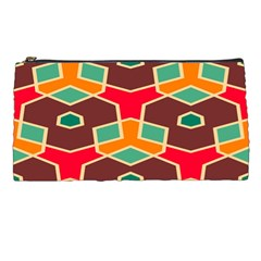 Distorted shapes in retro colors 	Pencil Case