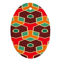 Distorted shapes in retro colors			Ornament (Oval)