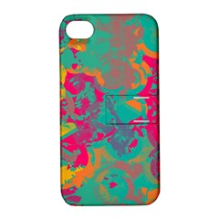 Fading circlesApple iPhone 4/4S Hardshell Case with Stand