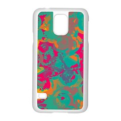 Fading Circles			samsung Galaxy S5 Case (white)