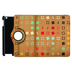 Squares on a brown backgroundApple iPad 2 Flip 360 Case