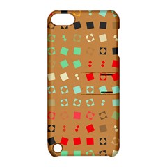 Squares on a brown background			Apple iPod Touch 5 Hardshell Case with Stand