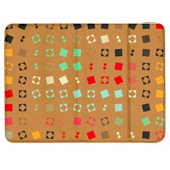 Squares on a brown backgroundSamsung Galaxy Tab 7  P1000 Flip Case