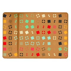 Squares on a brown background			Samsung Galaxy Tab 10.1  P7500 Flip Case