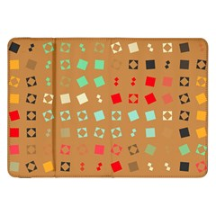 Squares on a brown backgroundSamsung Galaxy Tab 8.9  P7300 Flip Case