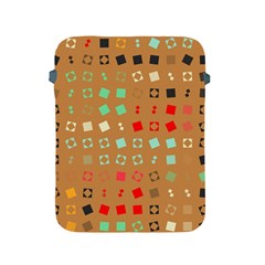 Squares on a brown backgroundApple iPad 2/3/4 Protective Soft Case