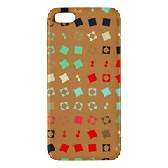 Squares on a brown background			iPhone 5S Premium Hardshell Case