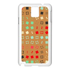 Squares on a brown background			Samsung Galaxy Note 3 N9005 Case (White)