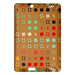 Squares on a brown background			Kindle Fire HD (2013) Hardshell Case