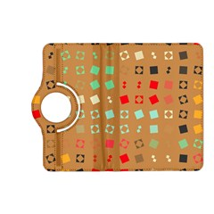 Squares On A Brown Background			kindle Fire Hd (2013) Flip 360 Case