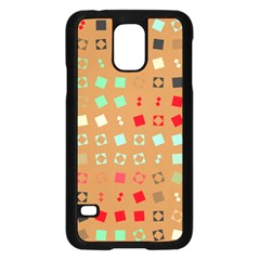 Squares On A Brown Background			samsung Galaxy S5 Case (black)