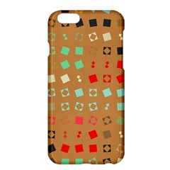 Squares on a brown background			Apple iPhone 6 Plus/6S Plus Hardshell Case