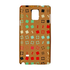Squares on a brown backgroundSamsung Galaxy Note 4 Hardshell Case