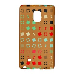 Squares on a brown backgroundSamsung Galaxy Note Edge Hardshell Case