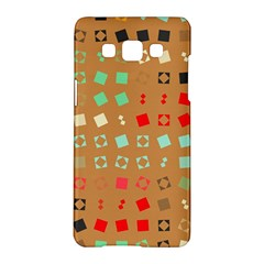 Squares on a brown backgroundSamsung Galaxy A5 Hardshell Case