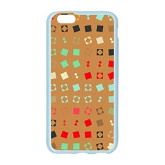 Squares on a brown backgroundApple Seamless iPhone 6/6S Case (Color)