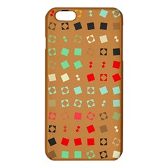 Squares on a brown backgroundiPhone 6 Plus/6S Plus TPU Case