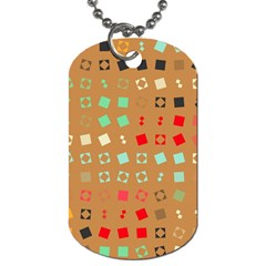 Squares on a brown background			Dog Tag (One Side)