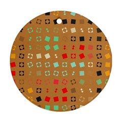 Squares on a brown background			Ornament (Round)
