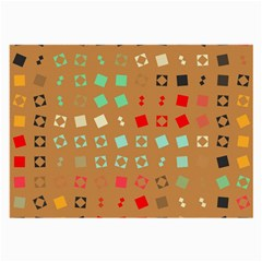 Squares on a brown backgroundLarge Glasses Cloth