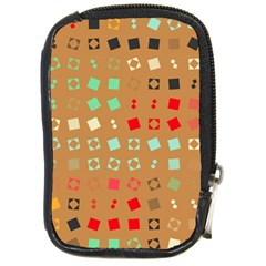 Squares on a brown background			Compact Camera Leather Case