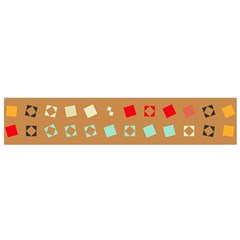 Squares on a brown background Flano Scarf