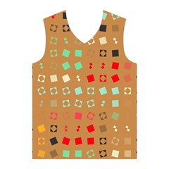 Squares on a brown background Men s Basketball Tank Top