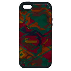 Geometric shapes in retro colors			Apple iPhone 5 Hardshell Case (PC+Silicone)