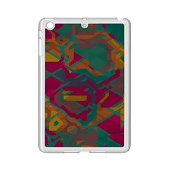 Geometric shapes in retro colors			Apple iPad Mini 2 Case (White)