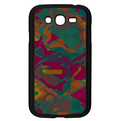 Geometric shapes in retro colors			Samsung Galaxy Grand DUOS I9082 Case (Black)