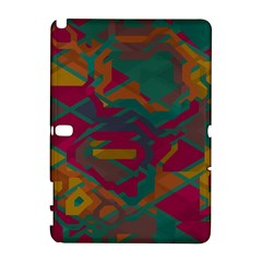 Geometric shapes in retro colors			Samsung Galaxy Note 10.1 (P600) Hardshell Case
