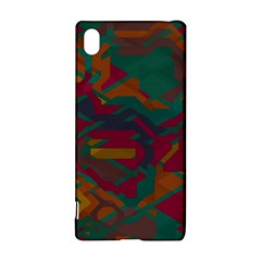 Geometric Shapes In Retro Colorssony Xperia Z3+ Hardshell Case