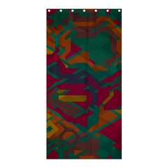 Geometric Shapes In Retro Colorsshower Curtain 36  X 72