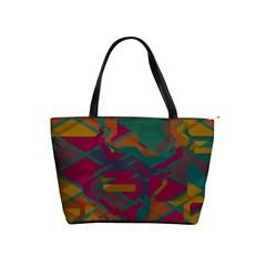 Geometric shapes in retro colors Classic Shoulder Handbag
