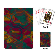 Geometric shapes in retro colorsPlaying Cards Single Design