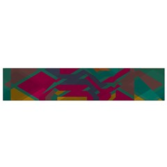 Geometric shapes in retro colors Flano Scarf