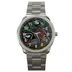 Bobwhite Quails Sport Metal Watches
