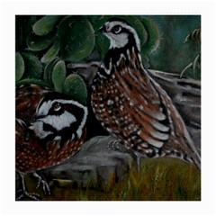 Bobwhite Quails Medium Glasses Cloth
