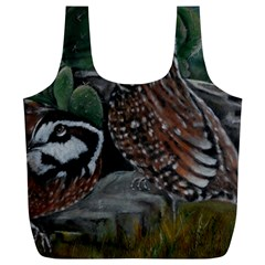 Bobwhite Quails Full Print Recycle Bags (L)