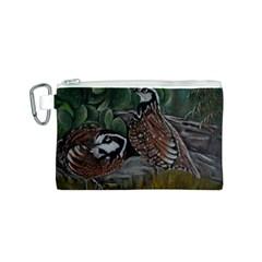 Bobwhite Quails Canvas Cosmetic Bag (S)
