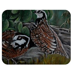 Bobwhite Quails Double Sided Flano Blanket (medium)
