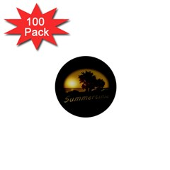Sunset Scene at the Coast of Montevideo Uruguay 1  Mini Buttons (100 pack)