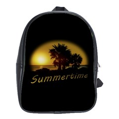 Sunset Scene at the Coast of Montevideo Uruguay School Bags(Large)